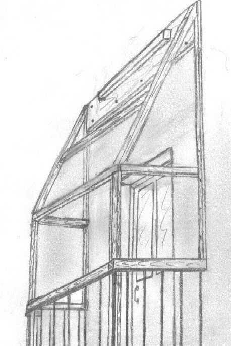 Сооружение каркаса балкона.