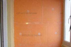 Пример отделки балкона пеноплексом