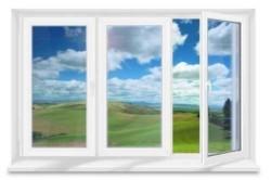 Пластиковое окно с тремя створками