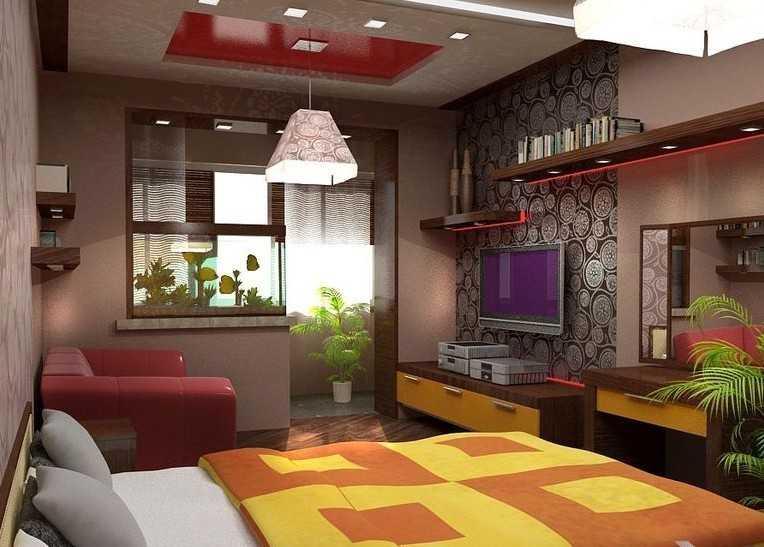 Дизайн спальни совмещённой с лоджией фото