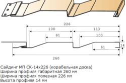 Монтажные размеры металлической сайдинг панели