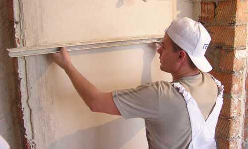 Оштукатуривание балкона