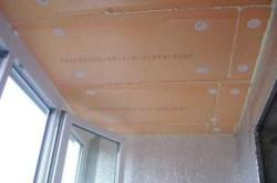Подготовка потолка балкона к монтажу