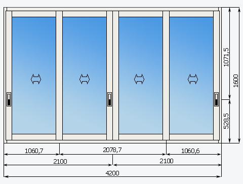 Схема холодного остекления