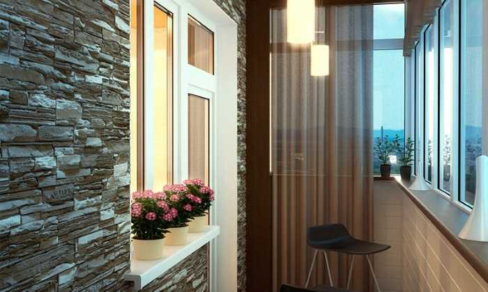 Дизайн и интерьер балкона.