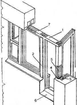 Конструкция балконного блока «окно-дверь»