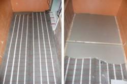 Монтирование пола в бетонную стяжку.
