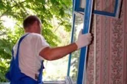 Демонтаж старого окна