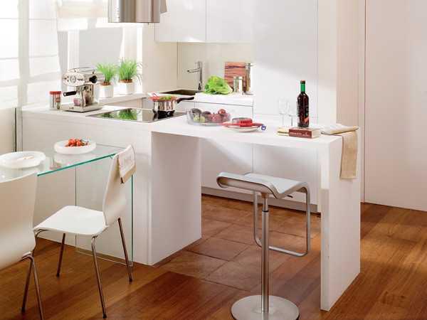 кухня с барной стойкой интерьер фото