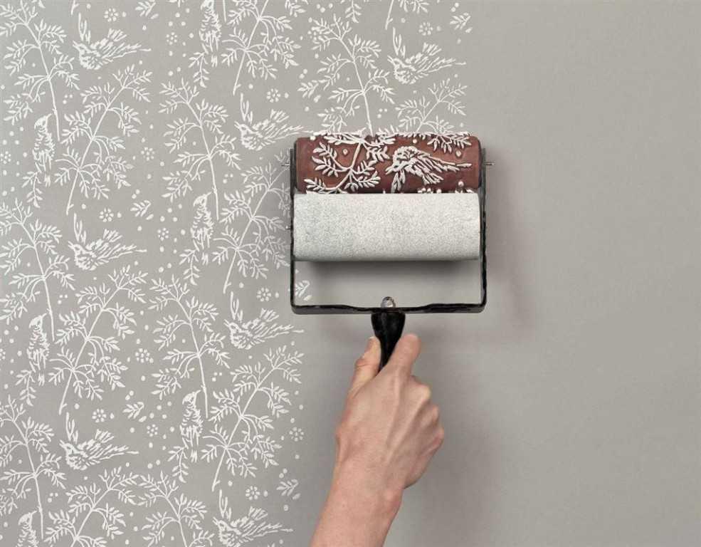 Покраска стен фактурным валиком своими руками
