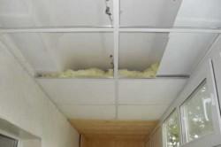 Каркасная конструкция утепления потолка