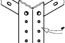 Вариант крепления каркаса к стойкам с помощью болтов