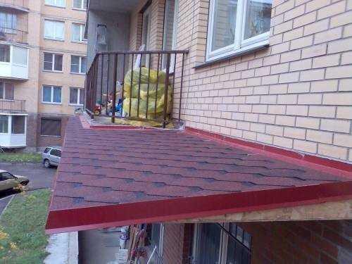Балконная крыша.