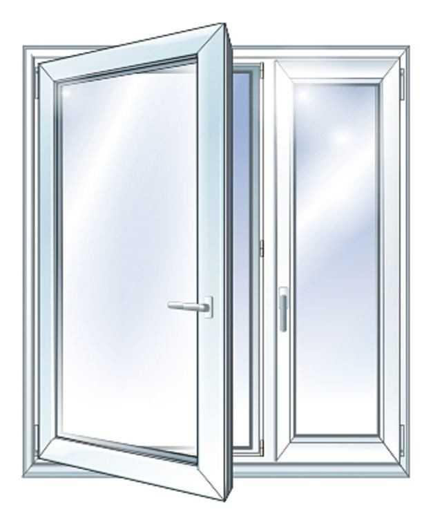 Первый тип металлопластиковых окон с