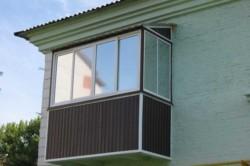 Остекление с созданием дополнительной крыши