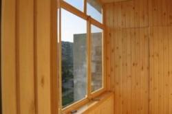Остекление деревянными модулями