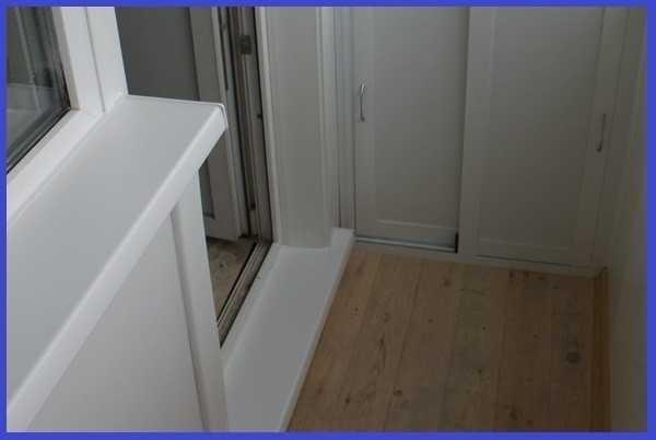 Отделка порога балконной двери (фото и видео).