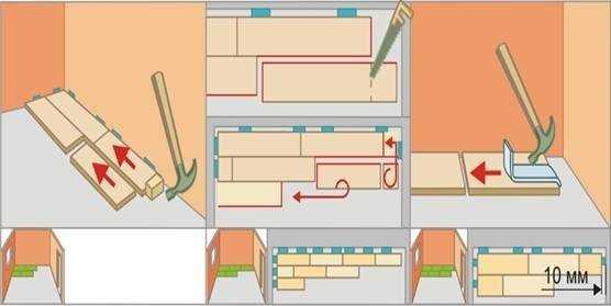 Схема укладки ламината на балкон