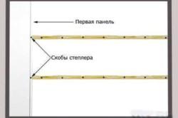 Схема крепления пластиковой вагонки