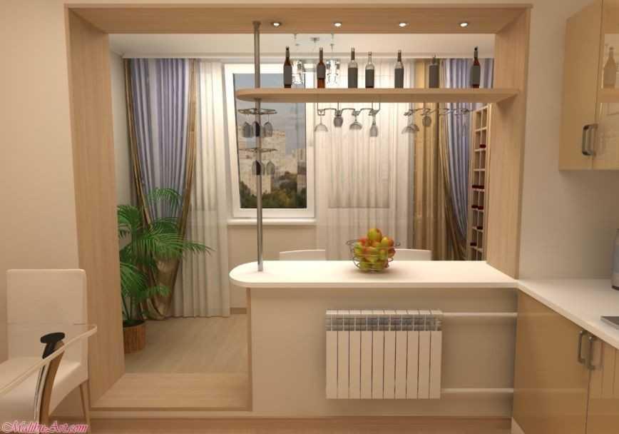 фото соединение комнаты с балконом