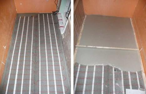 Электрический теплый пол на балконе под бетонной стяжкой