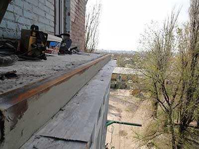 Ремонт балконной плиты (фото и видео).