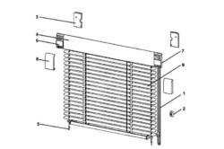 Схема установки горизонтальных жалюзи