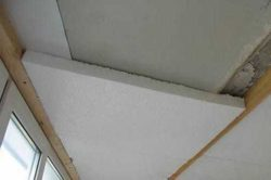 Потолок утепленный пенопластом