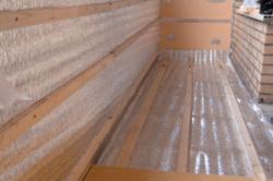 Утепление балкона при помощи пенофола