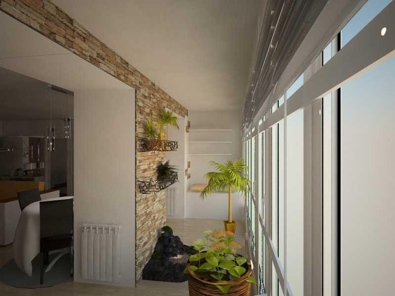 Кухня, совмещенная с балконом: оформление дополнительного пр.