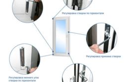 Варианты регулировки створки окна