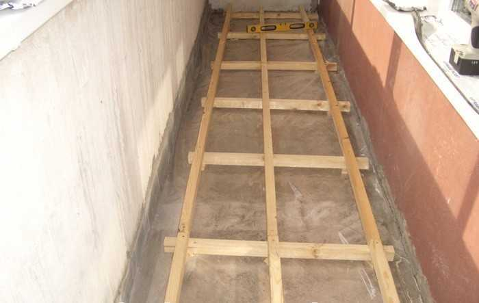 Выравнивание пола на балконе. - оригинальные балконы - катал.
