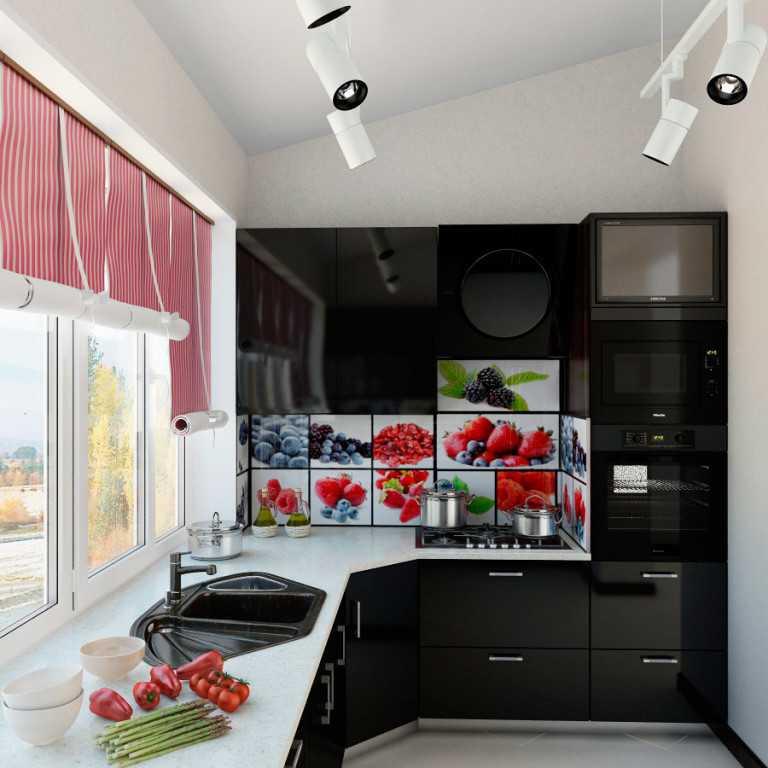 Узкая кухни фото дизайн