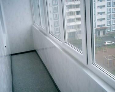 Внутренняя отделка балкона пластиковыми панелями