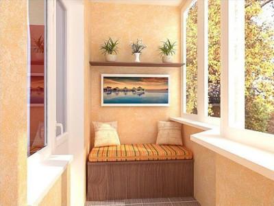 Утепленный балкон внутри