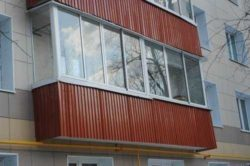Отделка балкона профнастилом