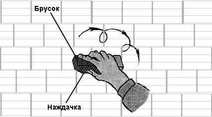 Шлифовка кирпичных стен