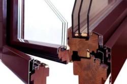 Деревяно-алюминиевый оконный профиль