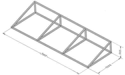 Каркас балконной крыши
