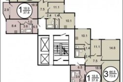 Планировка квартиры П-44