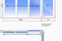 Схема алюминиевого остекления балкона