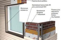 Схема металлического сайдинга окна