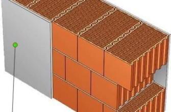 Схема штукатурки однослойной стены балкона