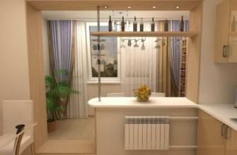Из балкона на кухне можно сделать столовую