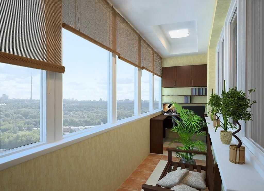 Балкон с ровным полом