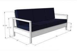 Вариант изготовления дивана из бруса