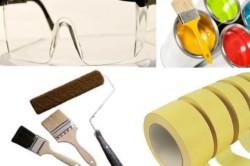 Материалы и инструменты для покраски