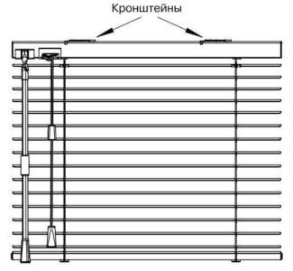 Схема крепления кронштейнов