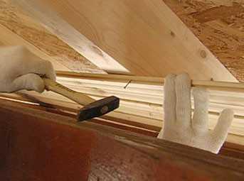 Крепление деревянных панелей к стене