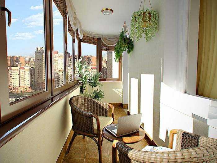 Уютный балкон под ключ